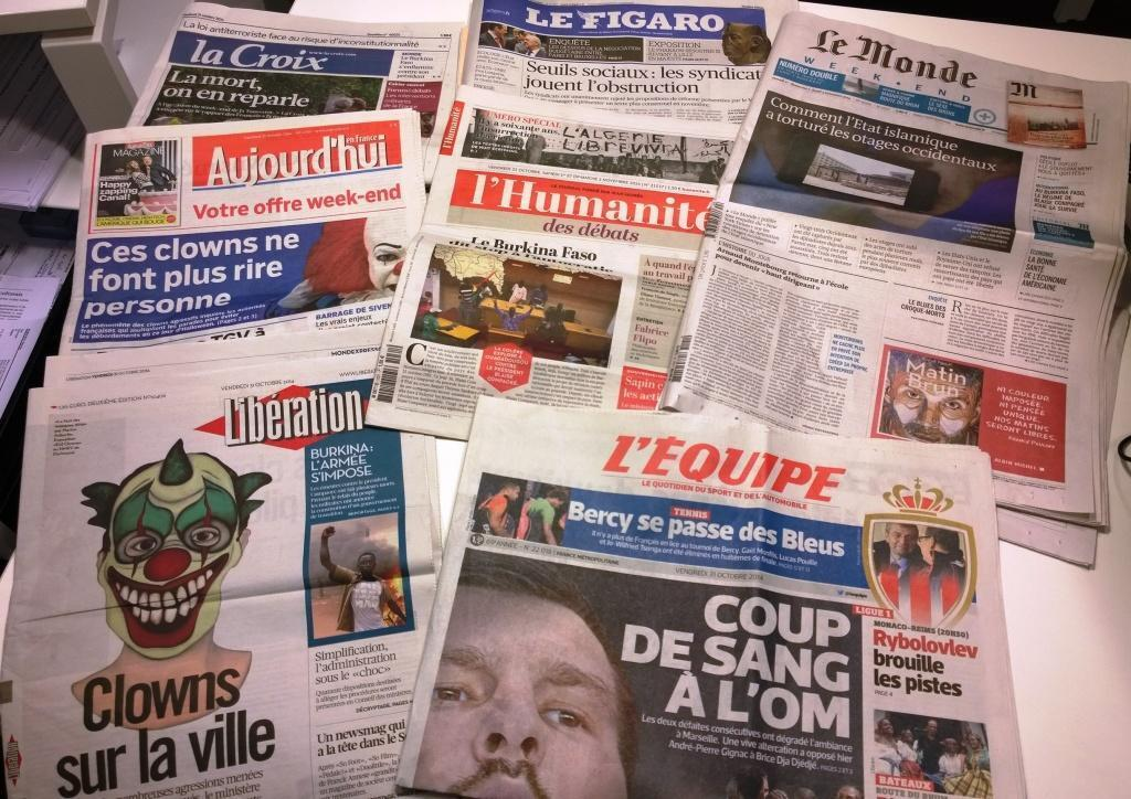 Diários franceses 31/10/2014