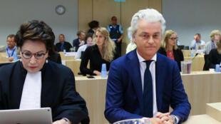 Procès en appel de Geert Wilders, Amsterdam, ce jeudi 17 mai 2018.