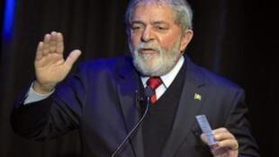 O presidente brasileiro Lula, durante evento em Johanesburgo.