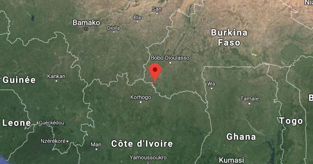 Le poste de Yenderé est situé à l'ouest du Burkina Faso, à 10 kilomètres de Niangoloko, la dernière ville du Burkina Faso avant la frontière avec la Côte d'Ivoire.