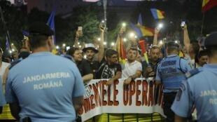 Rumani: Hàng ngàn người biểu tình ở Bucarest đòi chính phủ từ chức. Ảnh 10/08/2019.