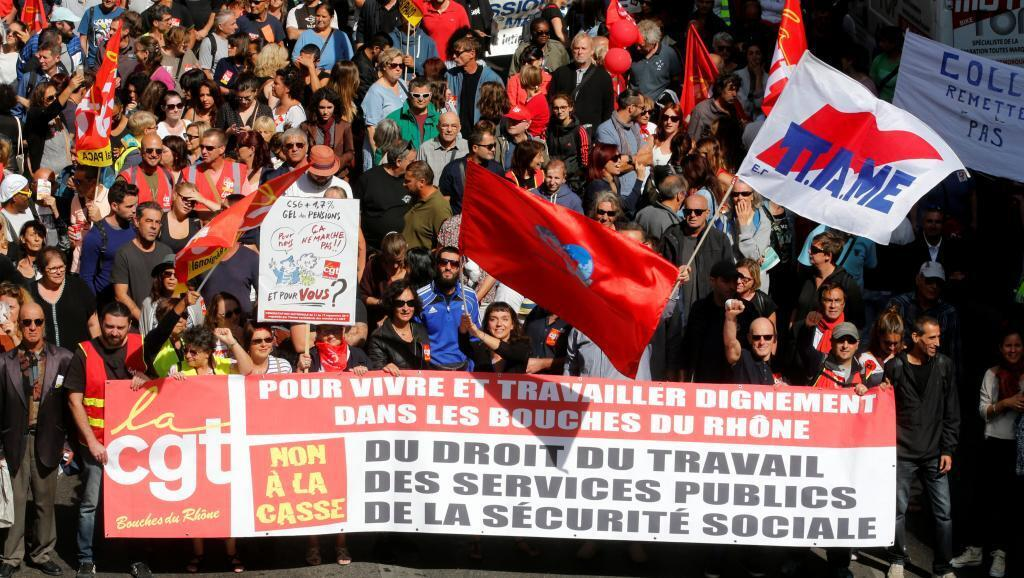 Demonstration against the labour law reform in Marseille on 12 September, 2017