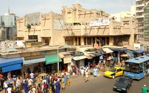 Kasuwar Sandaga dake babban birnin Dakar na kasar Senegal