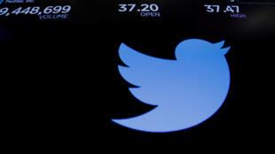 Giá cổ phiếu của Twitter bị sụt giảm trên thị trường chứng khoán New York, ngày 27/07/2018.