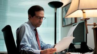 Chris Wallace en 2015 dans son bureau de FoxNews à Washington.
