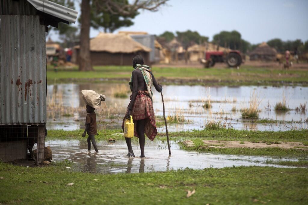 Inondations à Panthau, Soudan du Sud, en 2017.