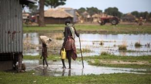 Mafuriko katika eneo la Panthau, Sudani Kusini, mwaka 2017.
