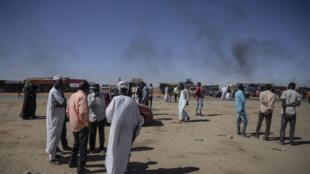 IMAGE Manifestation tribale suite à un meurtre à l'entrée de la ville d'el-Fasher, Darfour, Soudan, en février 2021.