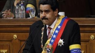 Ông Nicolas Maduro trong nghi thức nhậm chức quyền Tổng thống, 08/03/2013.