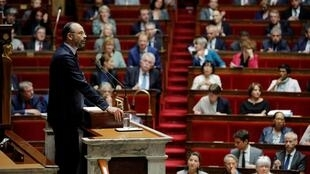 French Prime Minister Edouard Philippe delivers his second general policy speech at the National Assembly in Paris, France, June 12, 2019.