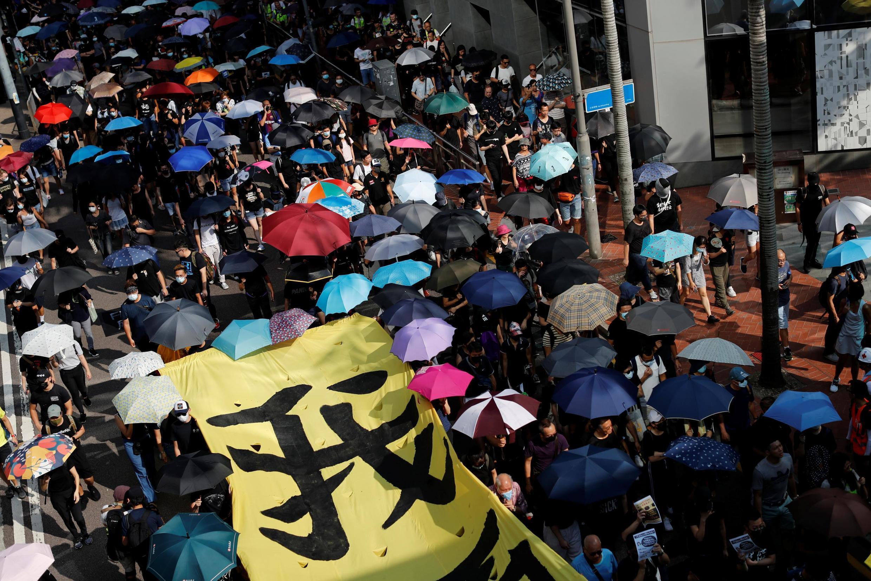 Cảnh biểu tình phản đối chính quyền ở Hồng Kông, ngày 05/10/2019.