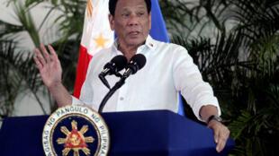 Rodrigo Duterte, le président philippin en 2018.