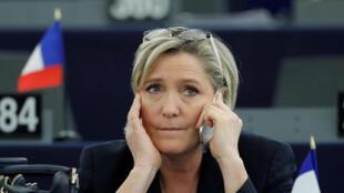 Marine Le Pen, Januari 17, 2017 kwenye Bunge la Ulaya mjini Strasbourg.