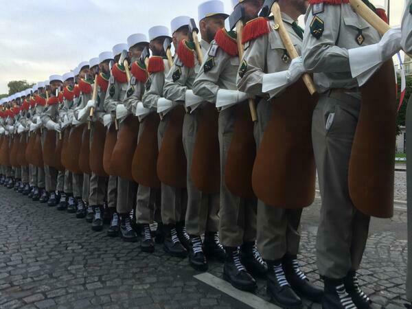 The Foreign Legion on parade on Bastille Day