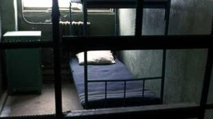 Une des cellules de l'ancien goulag russe «Perm 36».