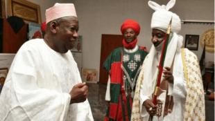 Gwamnan jihar Kano Abdullahi Ganduje da Tubebben sarkin Kano Muhammadu Sanusi II.