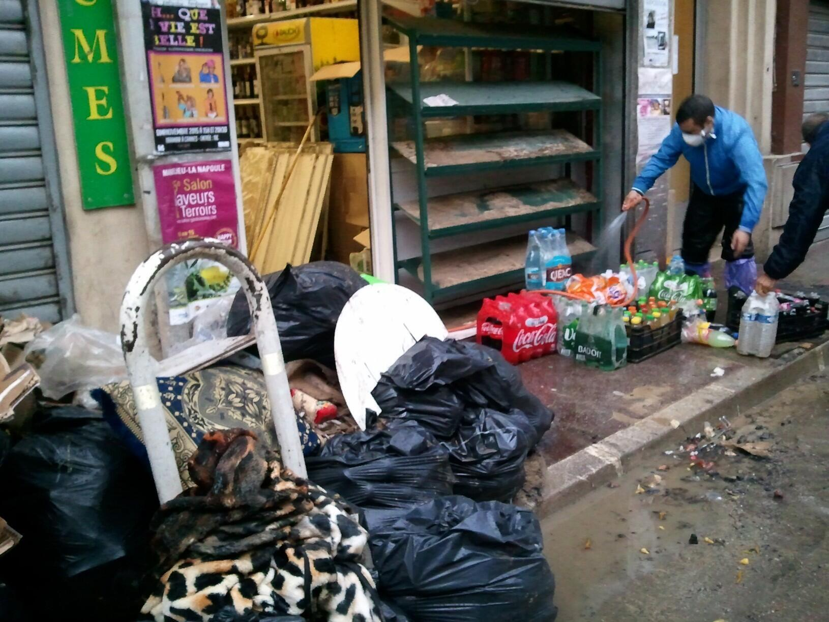 Local Cannes shopkeepers continue to clean up, one month after the floods