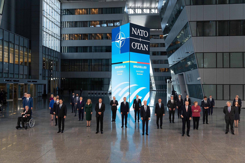 Лидеры стран НАТО на саммите в Брюсселе 14/06/2021.