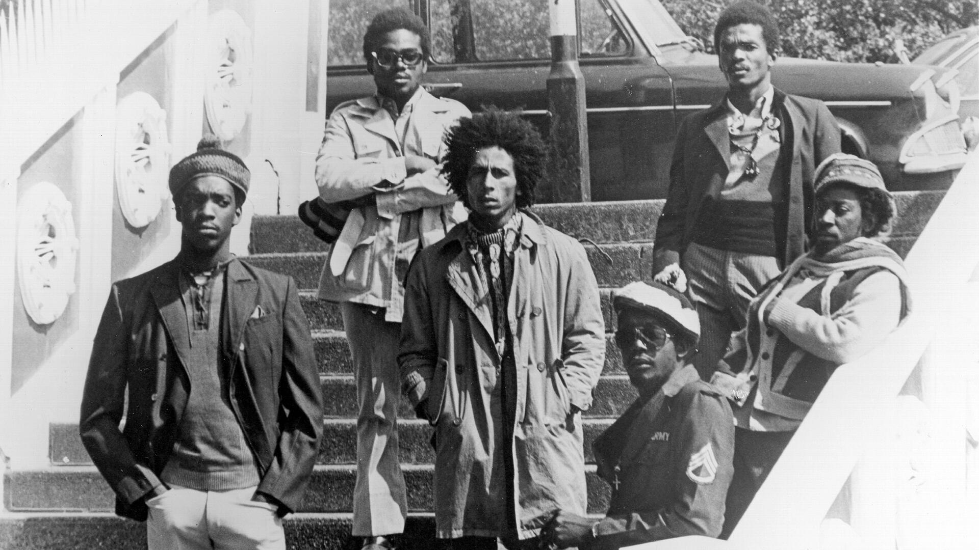 Bob Marley et The Wailers, à Londres, en 1973.