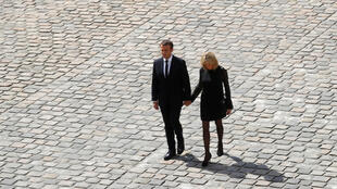 French President Emmanuel Macron and his wife Brigitte