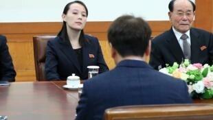 與韓國總統會談時的金與正 2018年2月10日