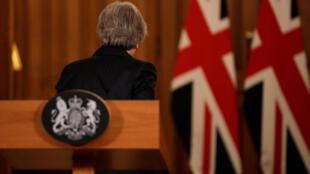Theresa May tras la rueda de prensa el 15 de noviembre de 2018.