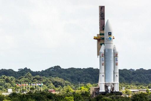 La fusée Ariane, lanceur de satellites en Guyane.