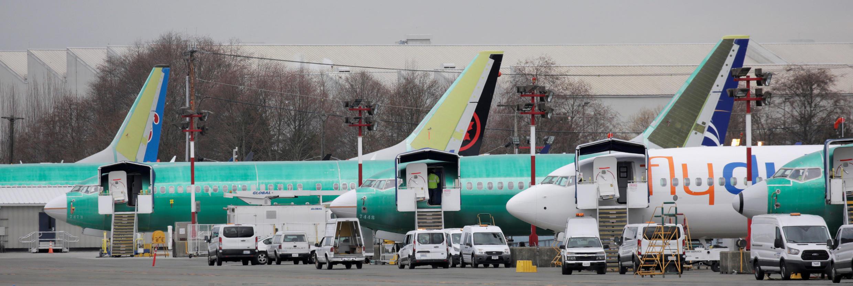 Đội máy bay Boeing 737 MAX ở thành phố Renton, bang Washington, ngày 11/03/2019.