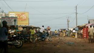 Le marché d'Abomey-Calavi au Bénin.