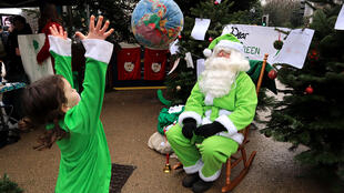 Les lettres écrites au père Noël vert seront remises aux participants de la COP 25 à Madrid.