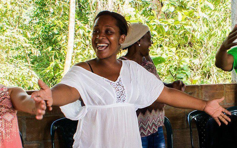Emilsen Manyoma, résistante des droits afro-colombiens.