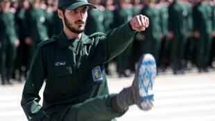 Một sĩ quan trong lực lượng Qods của Iran. Ảnh chụp tại Teheran ngày 30/06/2018.