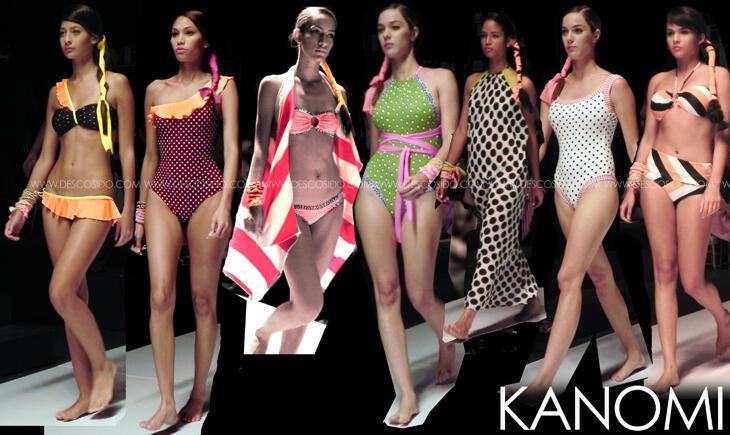 Modelos de ropa de playa de Kanomi. Creaciones de su fundadora, María Demenica Atencio.