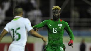 Le Burkinabè Aristide Bancé, ici face à l'Algérie.