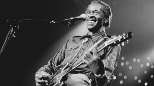 Chuck Berry sur scène à La Haye (Pays-Bas), le 14 juillet 1995.