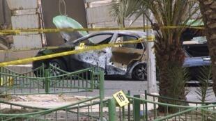 La police suit une piste selon laquelle deux pick-up équipés de lanceurs auraient été utilisés dans les attaques de lundi.