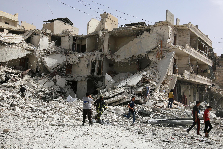 Alepo depois de um bombardeamento no dia 21 de Setembro.