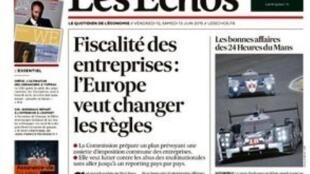 O diário econômico francês Les Echos de hoje.