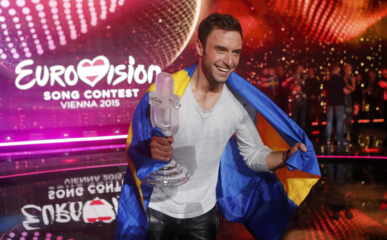 "Mans Zelmerloew، خواننده سوئدی رتبه اول را در شصتمین مسابقه آواز ""Eurovision"" کسب کرد."
