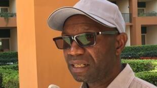 Le sélectionneur de l'équipe de RD Congo, Florent Ibenge, avant le tirage au sort de la CAN 2019.