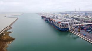 Le port du Havre, en France.