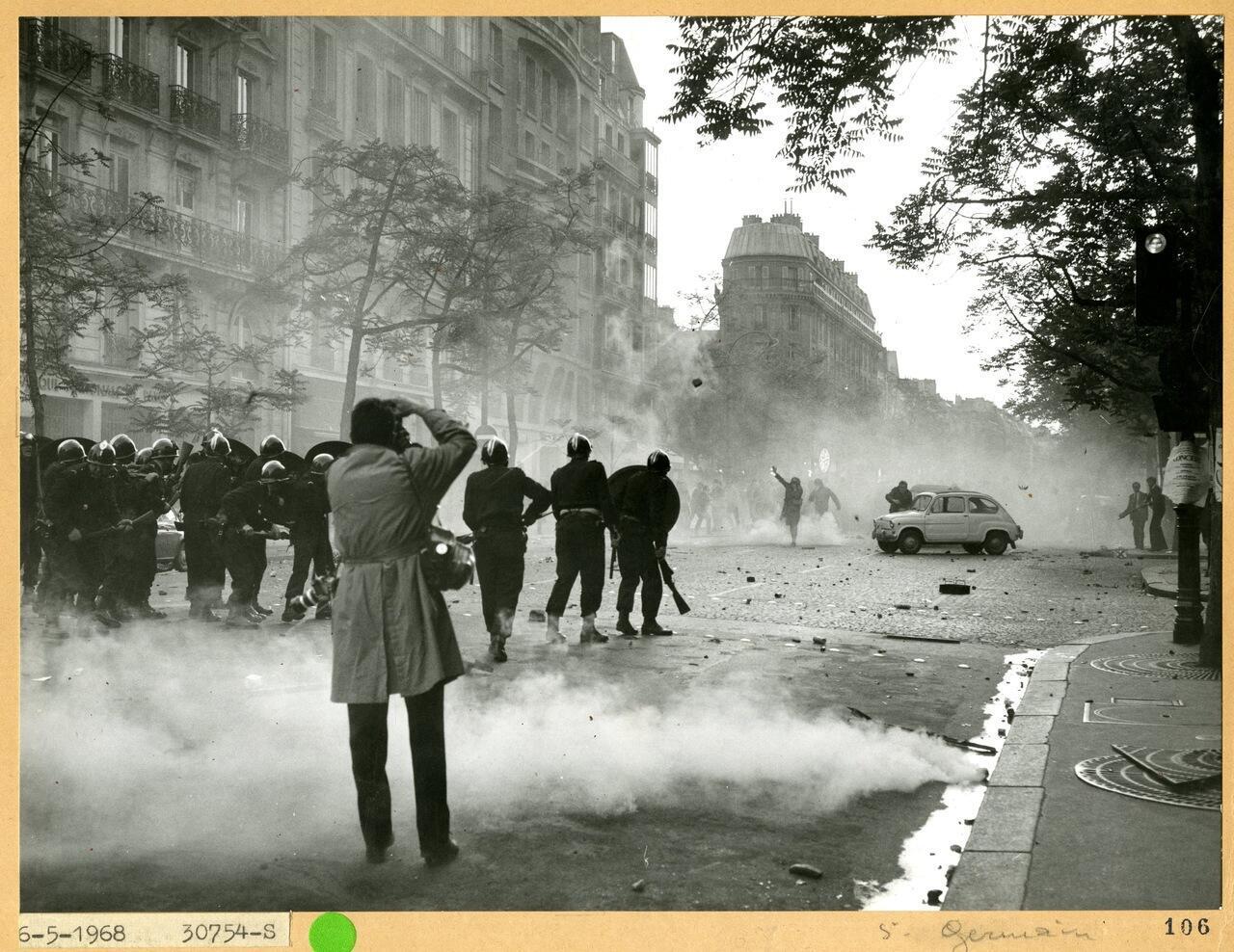 Arquivos da polícia de Paris. Maio de 1968.