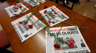 Salle de rédaction du journal indépendant «Cumhuriyet», Istanbul le 1er novembre 2016.