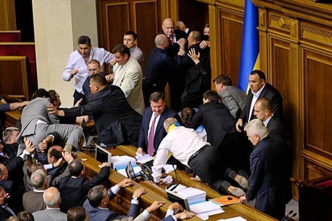 Драки в украинском парламенте (архив)