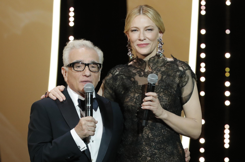 Martin Scorsese e Cate Blanchett na abertura do Festival de Cannes.