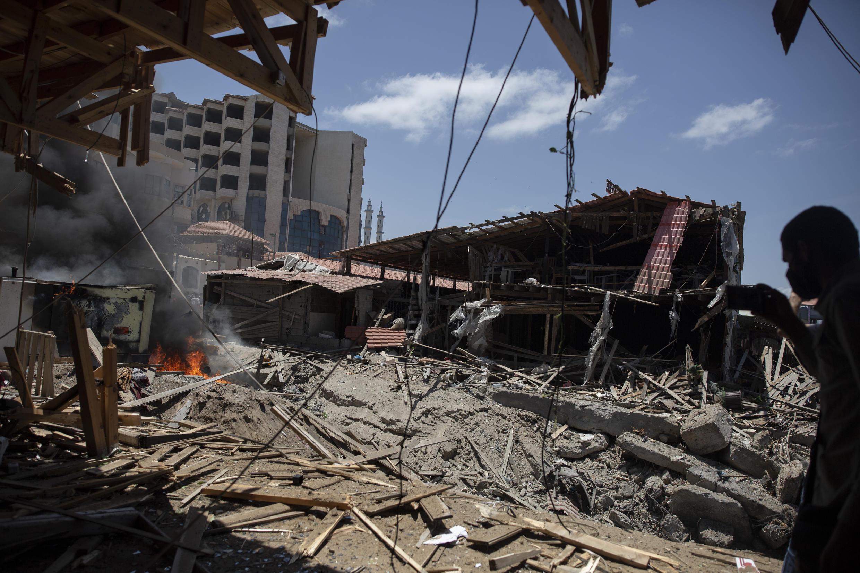 Gaza - Frappes israéliennes - destructions - AP21137383298584