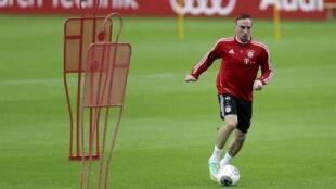 Le joueur du Bayern Munich, Franck Ribéry, lors de l'entrainement, à Doha, le 6 janvier 2014.