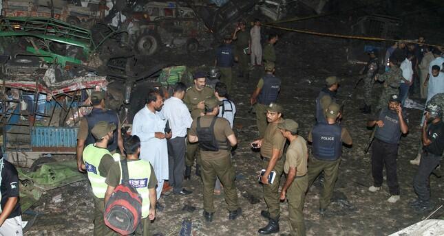 周一晚巴基斯坦拉合爾市發生卡車炸彈襲擊