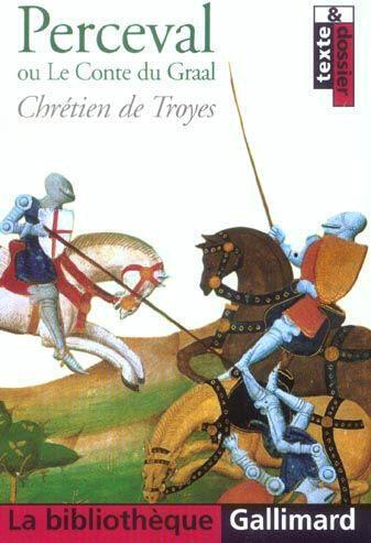 Tapa del libro 'Perceval ou le Conte de Graal' de Chrétien de Troyes.
