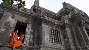 泰国与柬埔寨边界有主权争议的一大寺庙。